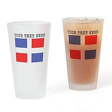 Custom Dominican Republic Flag Drinking Glass