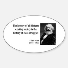 Karl Marx Quote 9 Oval Decal