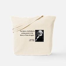 Karl Marx Quote 9 Tote Bag