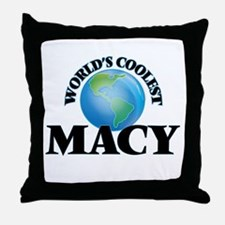 World's Coolest Macy Throw Pillow