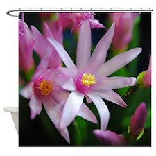 Pink Sunrise Cactus Flowers Shower Curtain