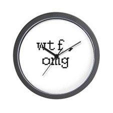 WTF, OMG - What the fuck, oh my god Wall Clock