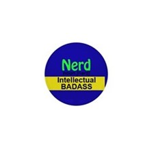 Nerd: Intellectual Badass Mini Button (10 Pack)