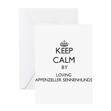 Keep calm by loving Appenzeller Sen Greeting Cards