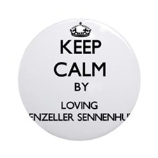 Keep calm by loving Appenzeller S Ornament (Round)