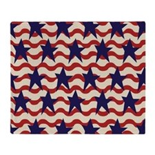 Americana Patriotic Ribbon Throw Blanket