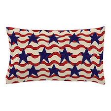 Americana Patriotic Ribbon Pillow Case