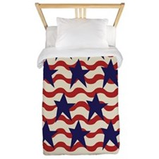 Americana Patriotic Ribbon Twin Duvet