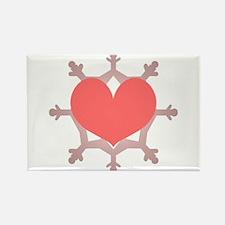 Heart Flake Pink IX Magnets