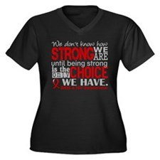 AIDS How Str Women's Plus Size V-Neck Dark T-Shirt