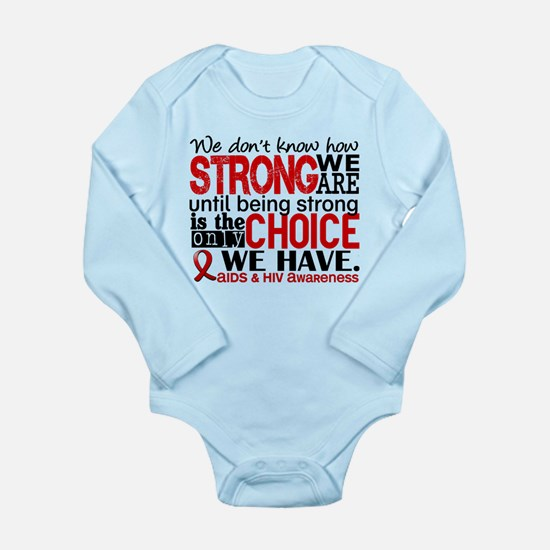 AIDS How Strong We Are Long Sleeve Infant Bodysuit