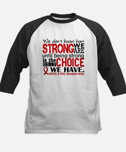 AIDS How Strong We Are Kids Baseball Jersey