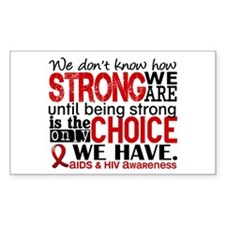AIDS How Strong We Are Decal