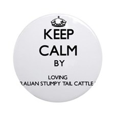 Keep calm by loving Australian St Ornament (Round)