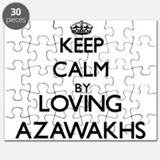 Keep calm by loving Azawakhs Puzzle
