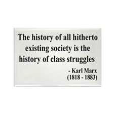 Karl Marx Text 9 Rectangle Magnet (100 pack)