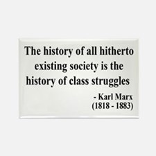 Karl Marx Text 9 Rectangle Magnet (10 pack)