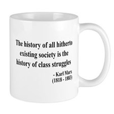 Karl Marx Text 9 Small Mug