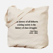 Karl Marx Text 9 Tote Bag