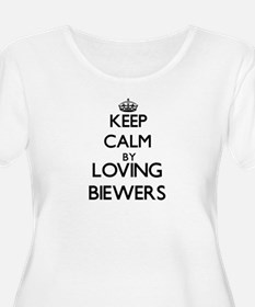 Keep calm by loving Biewers Plus Size T-Shirt