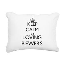 Keep calm by loving Biew Rectangular Canvas Pillow