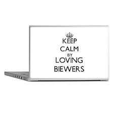 Keep calm by loving Biewers Laptop Skins