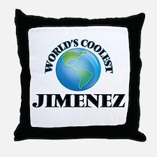 World's Coolest Jimenez Throw Pillow