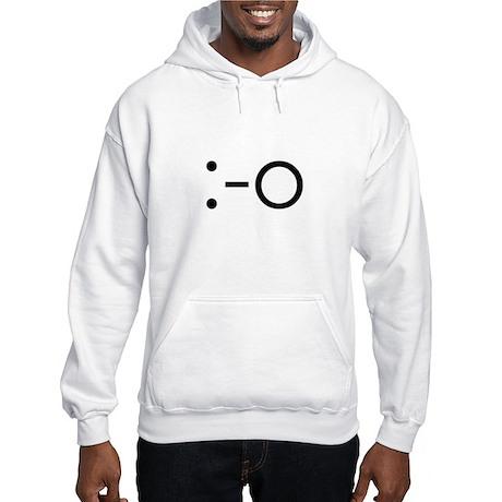 :-O Emoticon: Surprised Hooded Sweatshirt