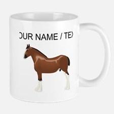 Custom Clydesdale Horse Mugs