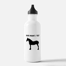 Custom Horse Silhouette Water Bottle