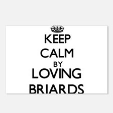 Keep calm by loving Briar Postcards (Package of 8)