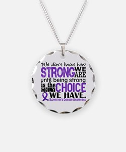 Alzheimer's HowStrongWeAre Necklace Circle Charm