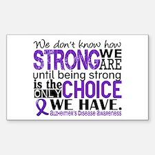 Alzheimer's HowStrongWeAre Decal