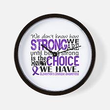 Alzheimer's HowStrongWeAre Wall Clock
