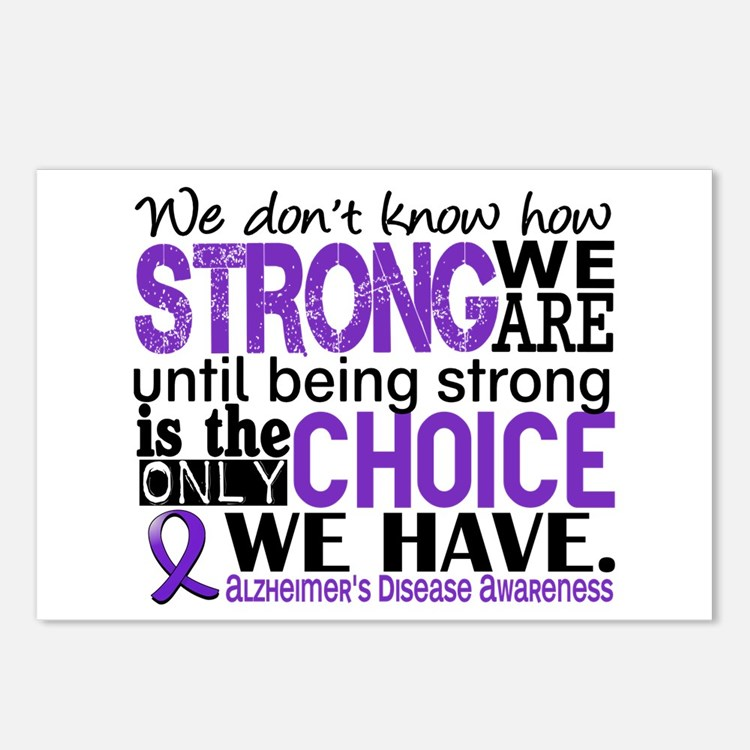 Alzheimer's HowStrongWeAr Postcards (Package of 8)