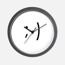 ;-) Emoticon: Winking Wall Clock
