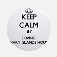 Keep calm by loving Canary Island Ornament (Round)