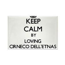 Keep calm by loving Cirneco Dell'Etnas Magnets