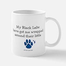 Wrapped Around Their Paws (Black Lab) Mug