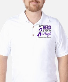Alzheimers Hero Now My Angel Golf Shirt
