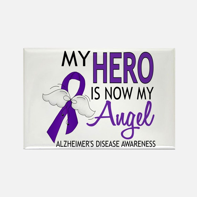 Alzheimers Hero Now My Angel Rectangle Magnet