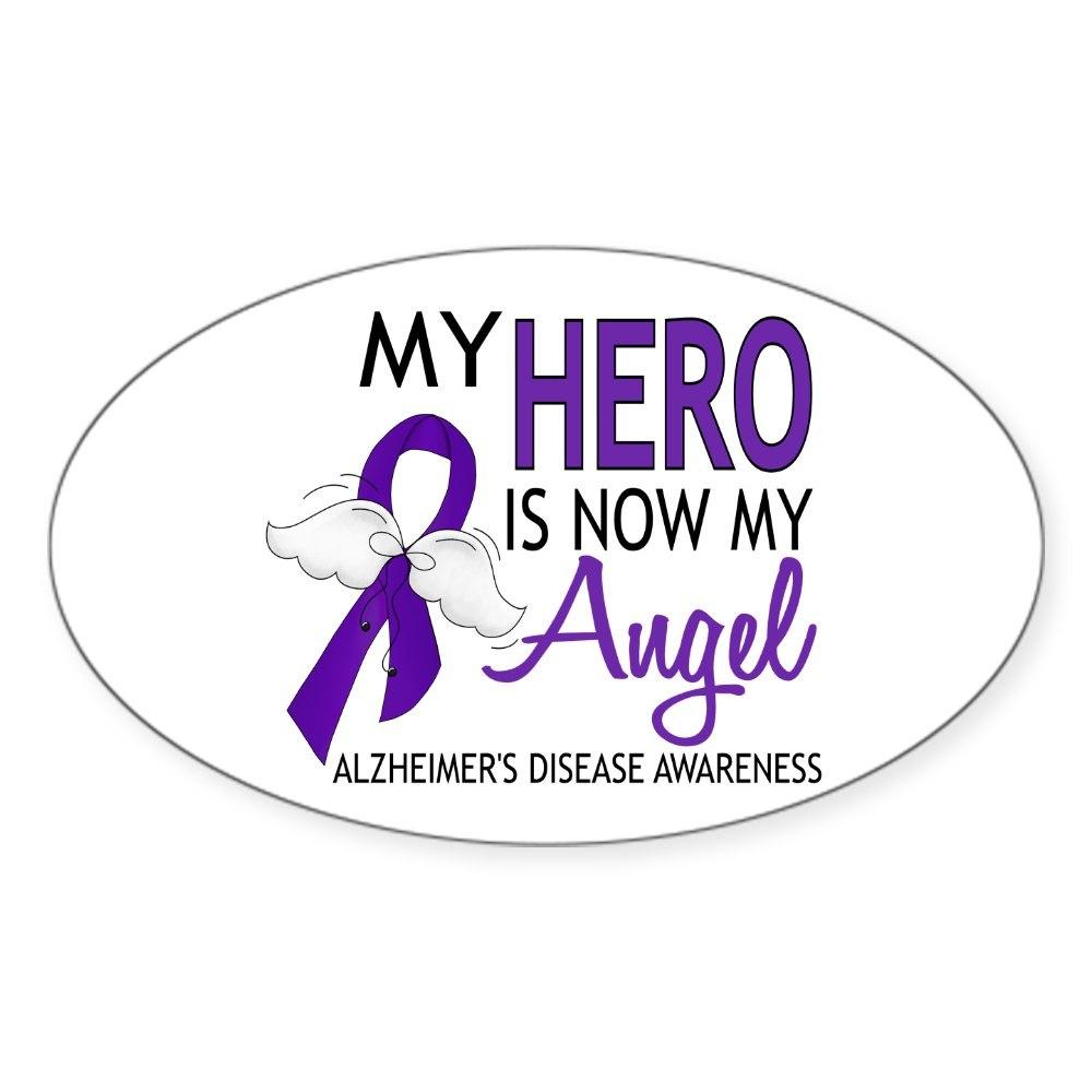 Oval 1433148376 CafePress Alzheimers Hero Now My Angel Sticker