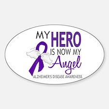 Alzheimers Hero Now My Angel Sticker (Oval)