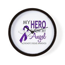 Alzheimers Hero Now My Angel Wall Clock