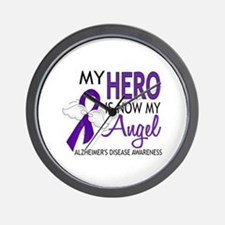 Alzheimers Hero Now My Angel Wall Clock