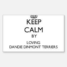 Keep calm by loving Dandie Dinmont Terrier Decal