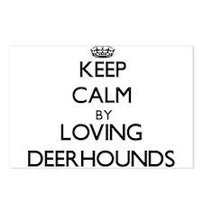 Keep calm by loving Deerh Postcards (Package of 8)