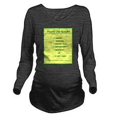 Transfer Day Checkli Long Sleeve Maternity T-Shirt