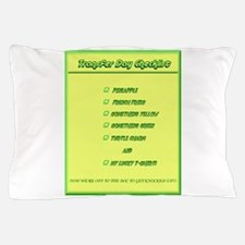 Transfer Day Checklist Pillow Case