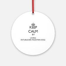 Keep calm by loving Entlebucher M Ornament (Round)
